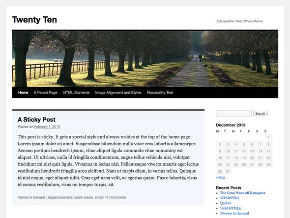 Twenty-Ten---Free-Blank-WordPress-Themes