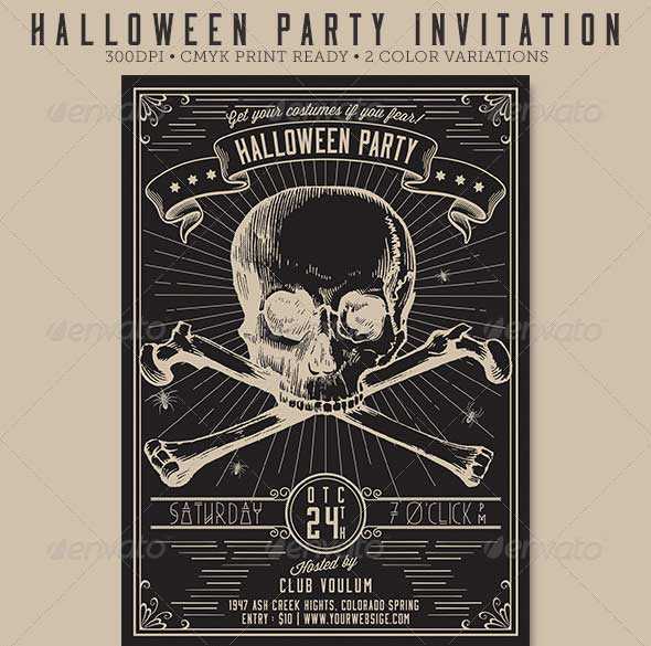 Vintage-Halloween-Party-Flyer-Invitation