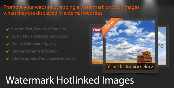 Watermark Hotlinked Images