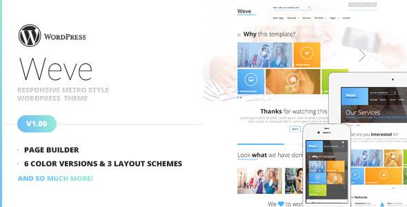 Weve - Responsive Metro Style WordPress Theme