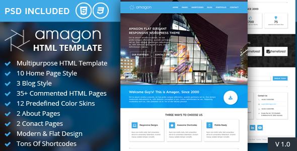 amagon-bootstrap-flat-multipurpose-html5-template