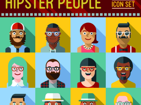 free-flat-hipster-icon-vector-designs