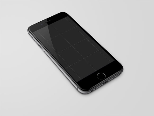 Free iPhone 6 Black PSD Mock-up