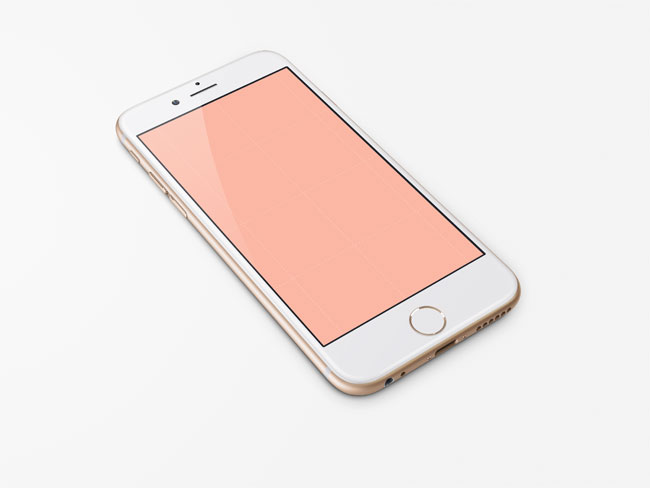 Free iPhone 6 Gold PSD Mock-up