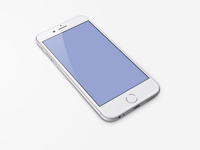 Free iPhone 6 White PSD Mock-up