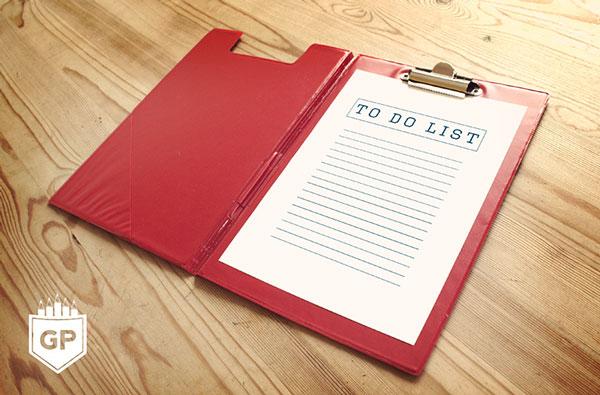 Notebook Page PSD Mockup