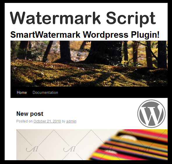 smartWatermark - wordpress plugin