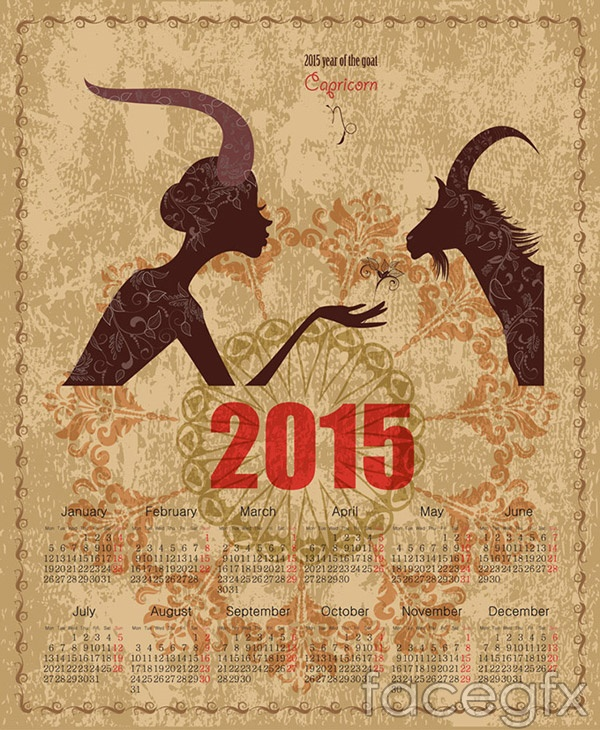 2015-calendar-of-ram-vector