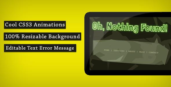 404 Error Page - Lost in the Jungle