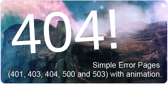 404 - Error Pages