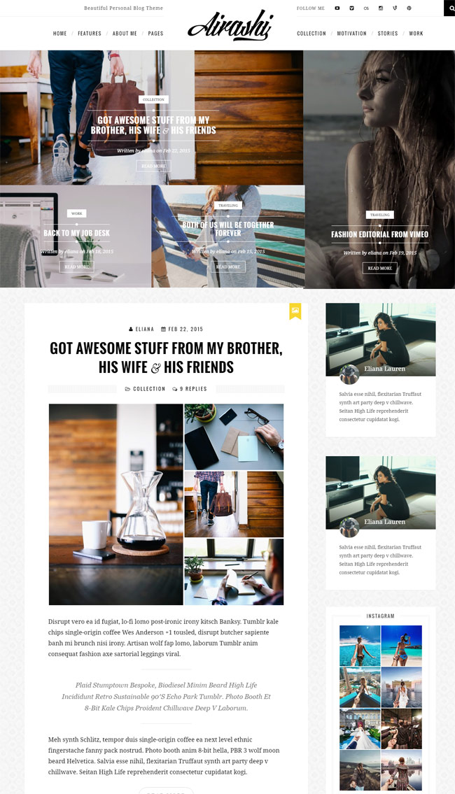 Airashi-Clean-Personal-WordPress-Blog-Theme