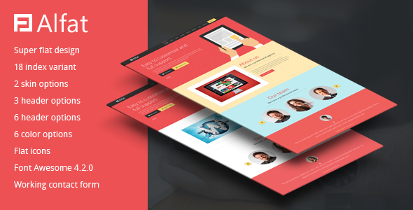 Alfat - Super Flat Landing Page Template