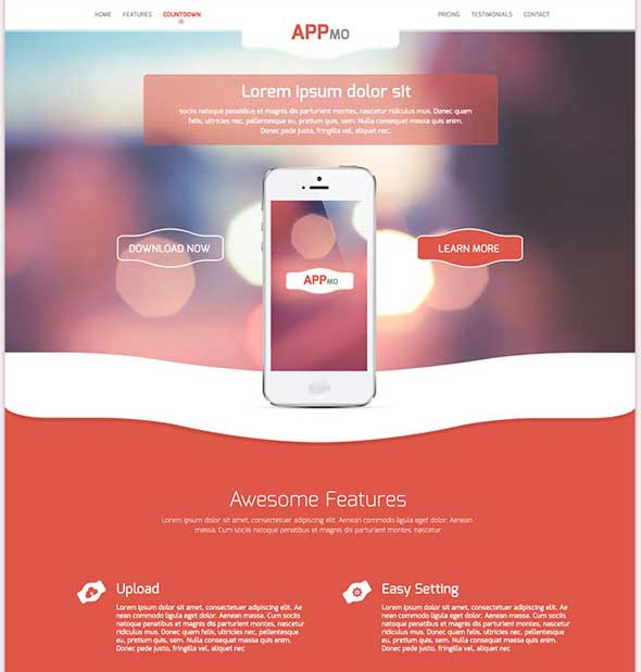 Appmo-PSD-One-Page-App-Landing-Page