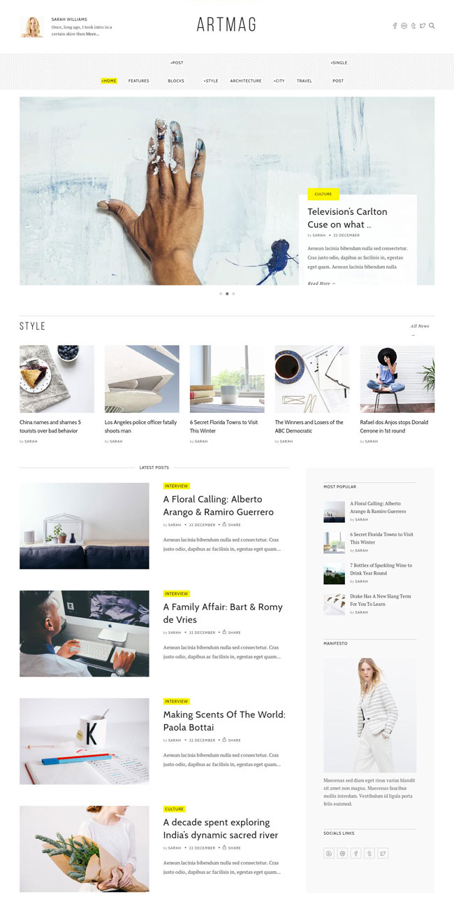 Artmag-Clean-WordPress-Fashion-Magazine-Theme