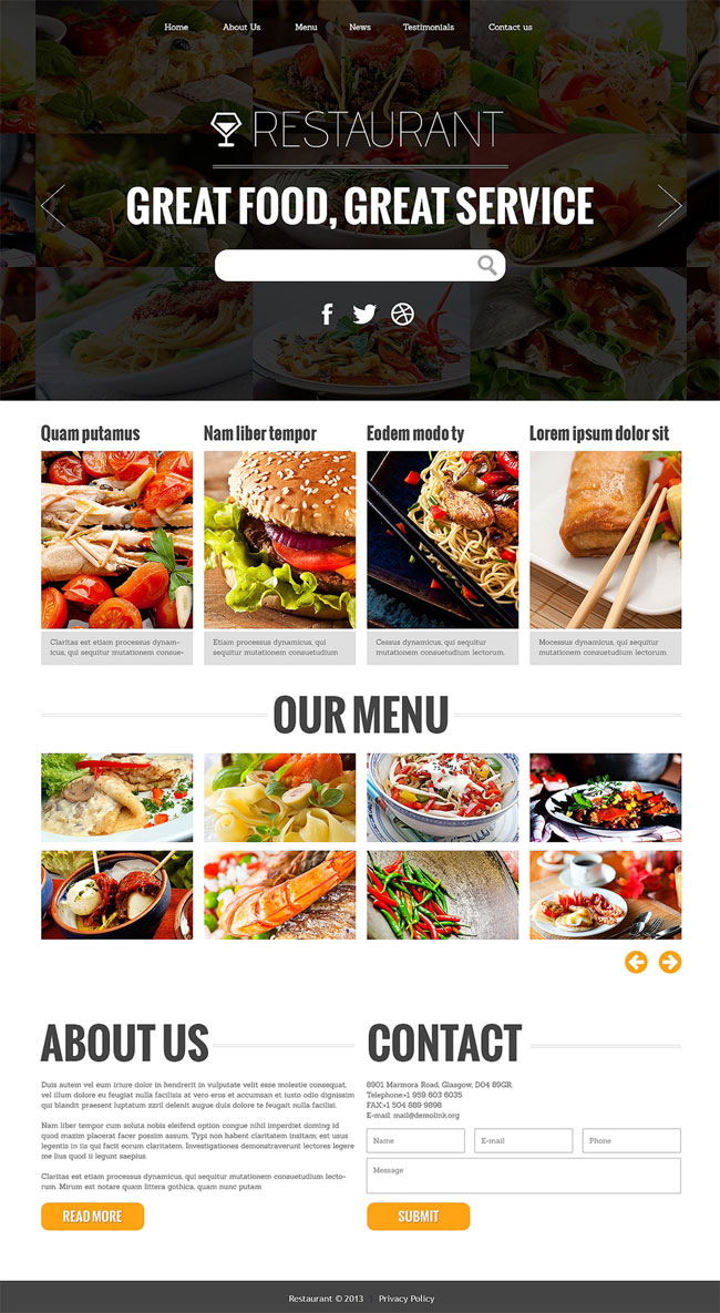 Attractive-Restaurant-Joomla-Template