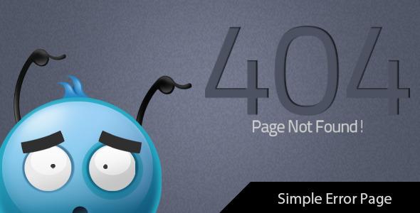 BluBird - 404 Error Page