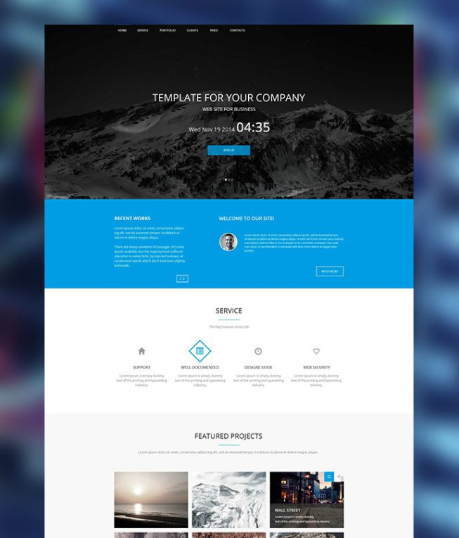 25 latest bootstrap themes free download designmaz blue onepage bootstrap html5 business template wajeb Choice Image