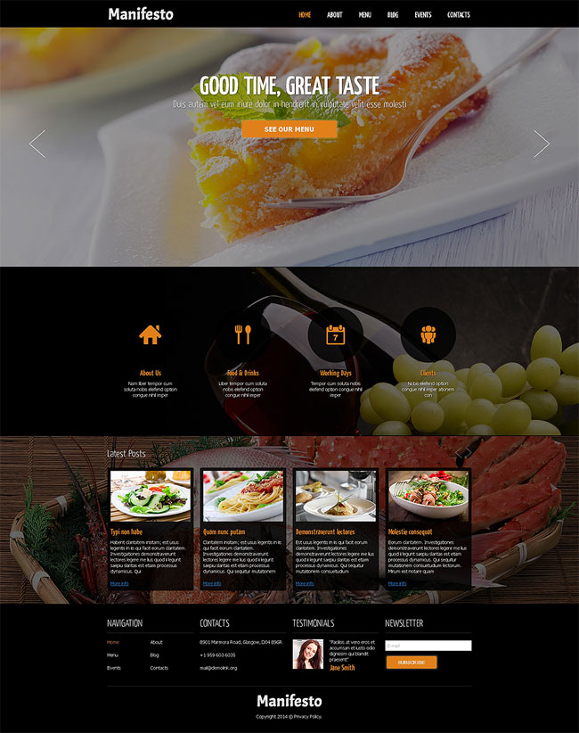 Cafe-and-Restaurant-Responsive-Joomla-Template