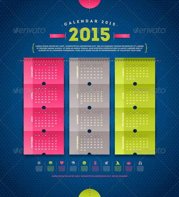 Calendar-2015-Template-vector
