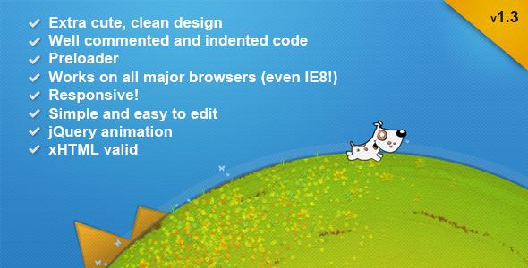 Cerberus - Premium, handmade 404 HTML Template