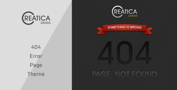Creatica - 404 Error Theme