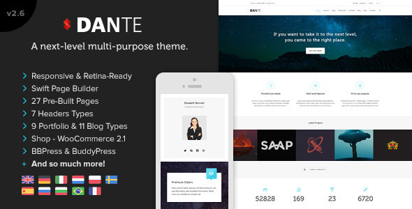 Dante - Responsive Multi-Purpose WordPress Theme