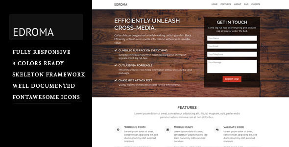 Edroma - One Page Landing Page
