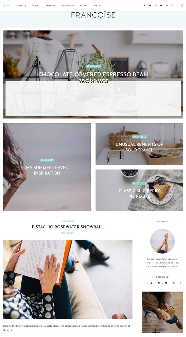 Francoise-WordPress-Blog-Theme