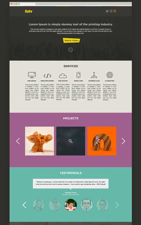 Free-Bahr-PSD-one-page-template