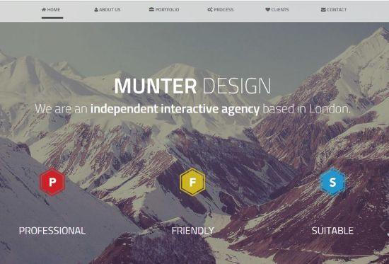 Free Munter HTML Bootstrap Theme