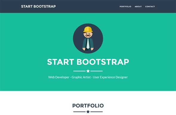 One Page Html5 Template. 25 latest bootstrap themes free download ...