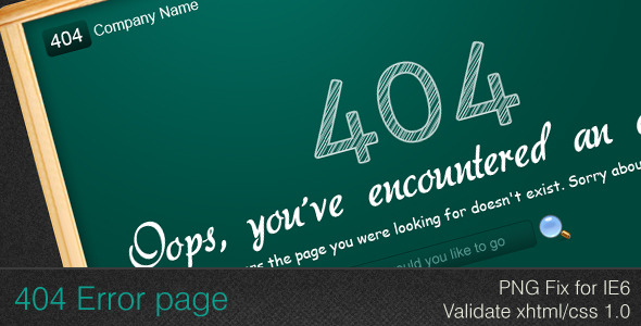 Green Board 404 Error - Page Not Found