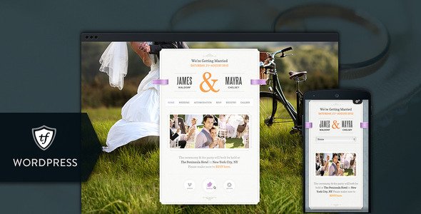 Just Married - Wedding WordPress Theme