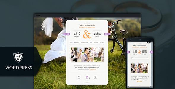 Just Married - Wedding WordPress Theme