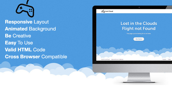 Lost - Responsive 404 Error Template
