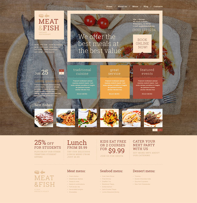 Meat-Fish-Restaurant-WordPress-Theme