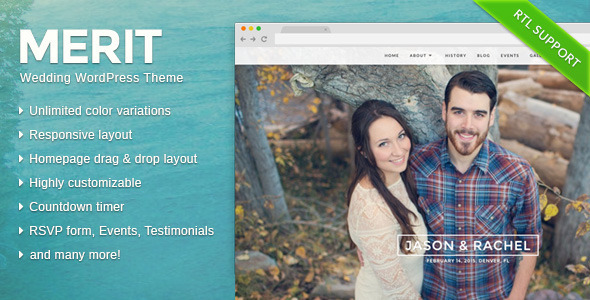 Merit - Responsive WordPress Wedding Theme