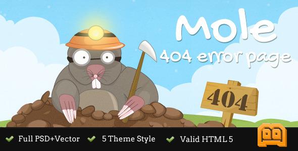 Mole 404 Error Page