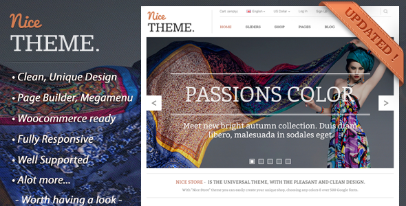 NiceTheme - eCommerce Fashion WordPress Theme