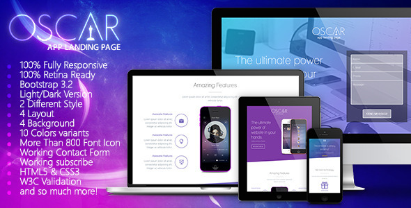 Oscar - Responsive App Landing Page