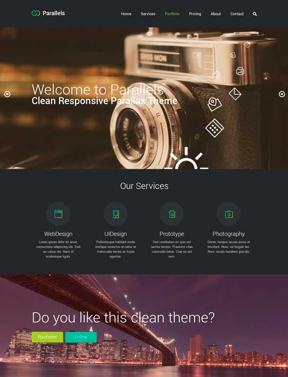 Parallels-PSD-Responsive-Template