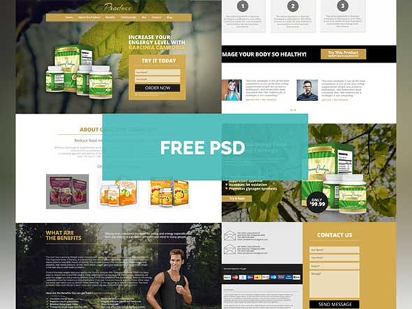 Produce-Theme-Product-PSD-Landing-Page