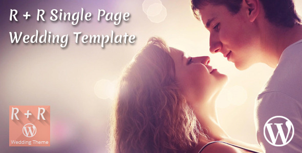 R+R Single Page Wedding Template