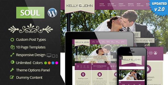 Soul - Responsive WordPress Wedding Theme