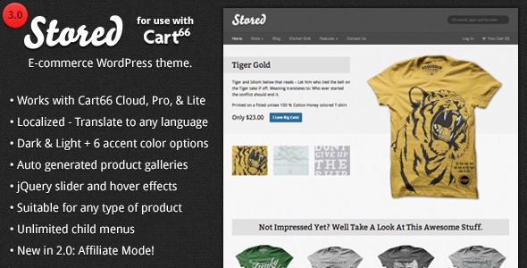 Stored - Ecommerce WordPress Theme for Cart66