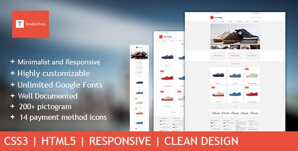 TenderShop - Minimal Responsive eCommerce Template