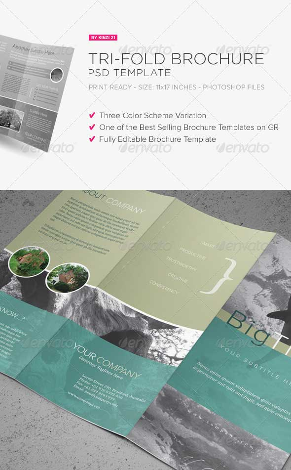 30 best premium printed brochure templates designmaz for Brochure photoshop templates