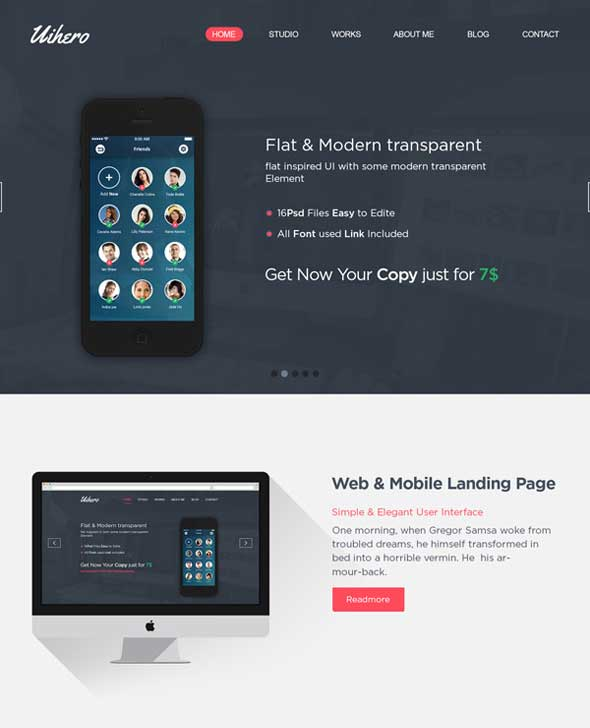 Uihero-Free-PSD-One-Page-Website-Template