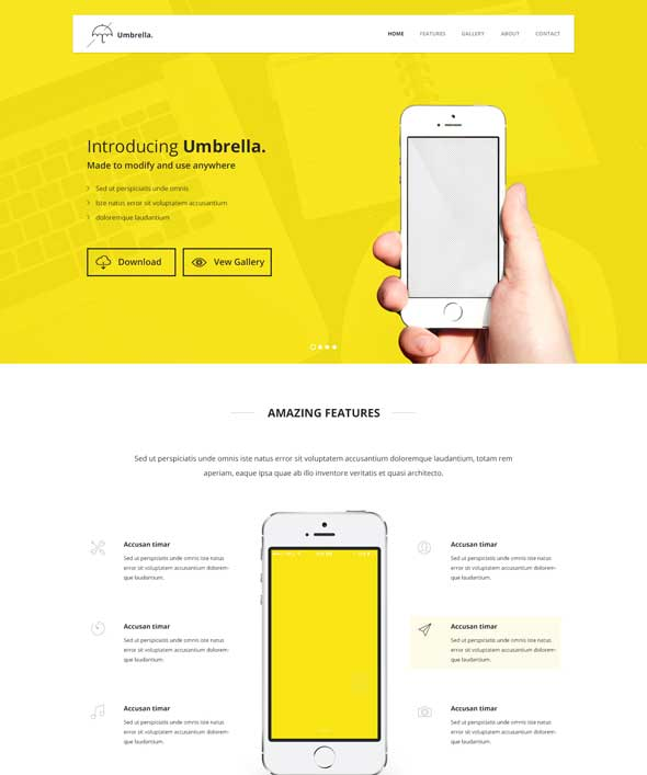 Umbrella-Ultimate-App-Landing-Page-PSD-Template