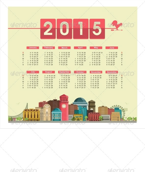 Vector-Calendar-2015-with-Cityscape